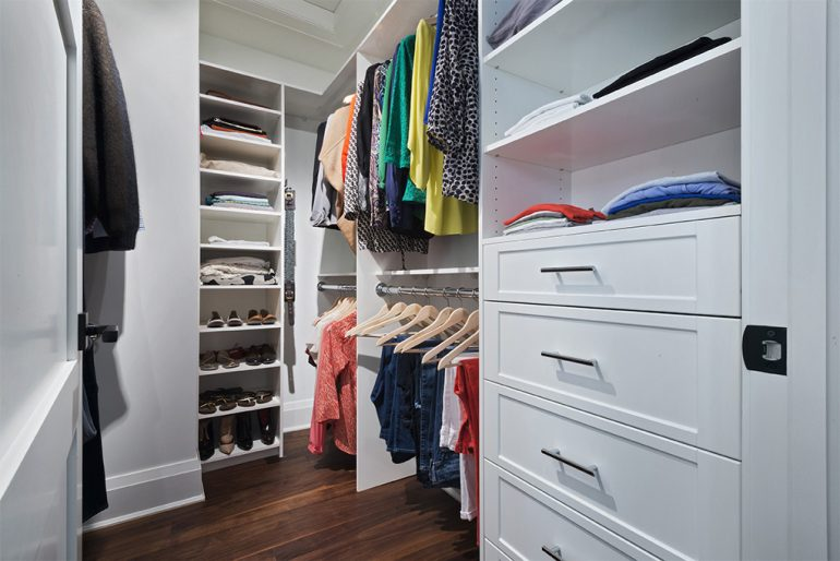 Dundurn walk in closet by Mather Fine Homes