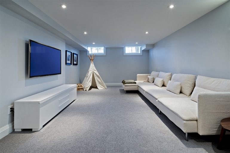 Dundurn media room by Mather Fine Homes